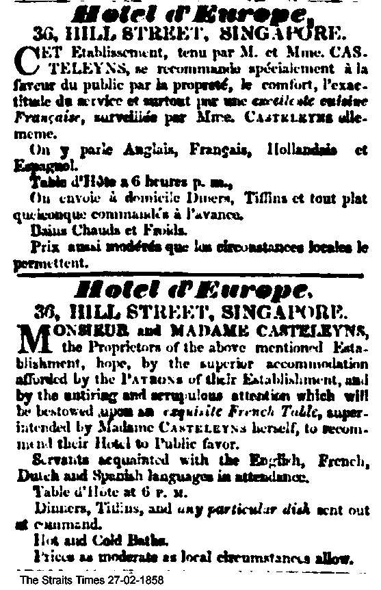 The Straits Times, 27/2/1858